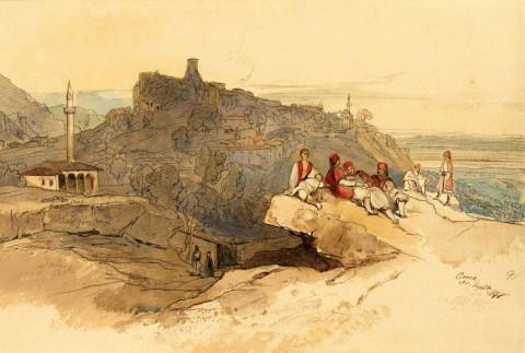 Imazhi i parë i Krujës - Edward Lear - 1849